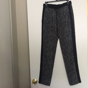 Vince Camuto Black and white patterned pants